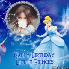 Happy Birthday Little Princes Birthday Wish Card For Girls With Picture.
