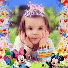 Happy Birthday Micky Mouse Card With Picture For Your Little Brother