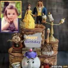 Happy Birthday Princess Doll Cake With Your Picture For Girls