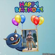 Monster Birthday Card For Boys With Picture