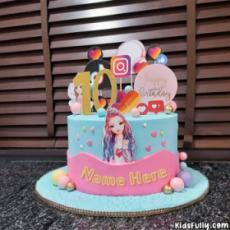 Social Media Girl Cake For Girls With Name